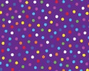 Multi Coloured Dots on Purple